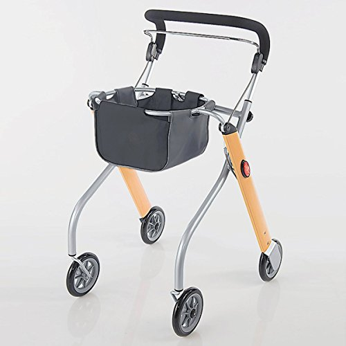 Trust Care 9320 Wohnraum - Rollator Let's Go in Holz/Silber Optik