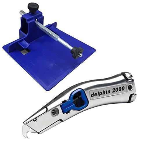Delphin® SET Streifenschneider 300300 und Delphin® Teppichmesser 2000 blau