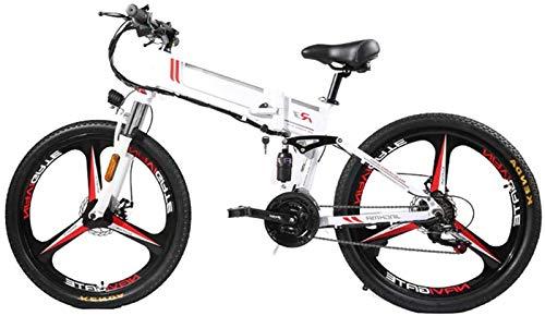 Bici electrica, Bicicleta de montaña eléctrica plegable 350W Ebike 21 Velocidad de aleación de magnesio llanta de la bicicleta plegable ultra-ligero con pilas de la Movilidad Ocultos bicicletas for ad