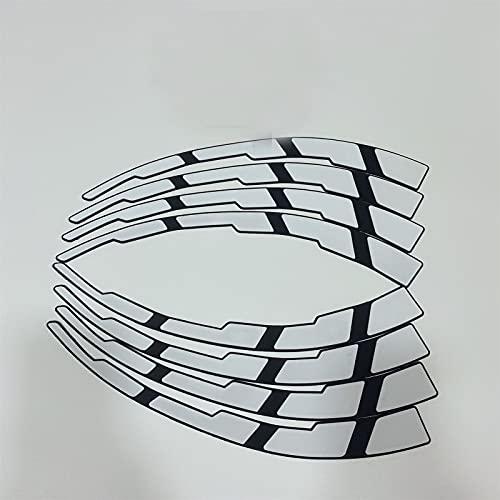 HUANGRONG Pegatina de neumáticos del Coche Decoración de la Superficie de la Letra Inglesa Pegatinas Personalizadas 3D Pegatinas PVC Material Negro Conjida para la Motocicleta Letras Decoración