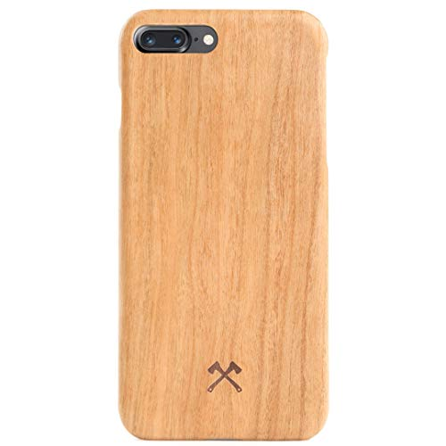 Woodcessories – Carcasa, Funda Compatible con iPhone 7 Plus / 8 Plus, de Madera Real, EcoCase Slim (Cerezo)