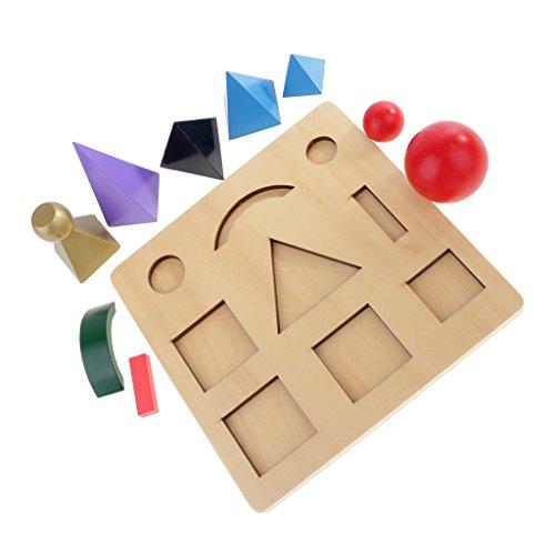Sharplace Montessori Material: Bunte Wortartensymbole Körper Lernspiel für Kinder