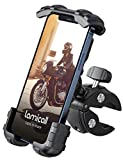 Lamicall Bike Phone Holder Mount - Motorcycle Handlebar Phone Clamp, Scooter Phone Clip for iPhone 12 Pro Max, Galaxy S9 and 4.7'- 6.8' Cellphone