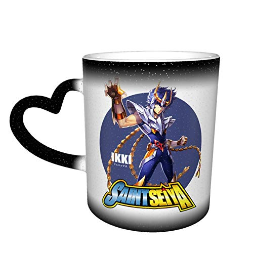 IHHASD Taza de café S-a-int Seiya Phoenix Ikki mágica que cambia el calor