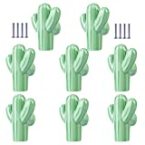Batop 8Pcs Möbelknöpfe Kinderzimmer, Kaktus Form Kinder Möbelgriff Möbelknöpfe Schrankgriffe Türknöpfe Schrankknöpfe Griff Knopf, 50x43x23mm