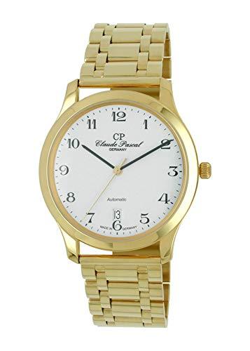 Claude Pascal 494293 EA - Reloj de Pulsera automático para Hombre, Or