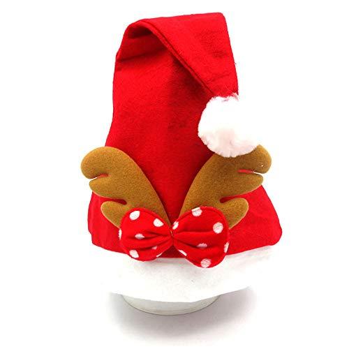 SSRSHDZW Bonnet De Noel Bonnet De Noel Bonnet De Noel Decoration De Noel Unisexe Deux Couleurs 28X38cm,A