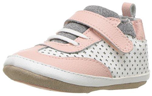 Robeez Girls' Low Top Sneaker-Mini Shoez Crib Shoe, Katie's Kicks-White, 3-6 Months M US Toddler