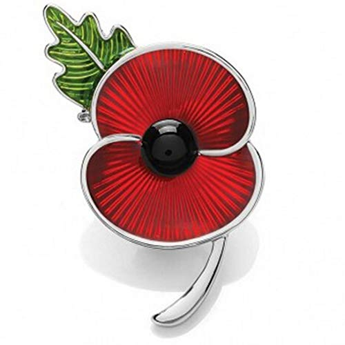 Keppels Friendly 10 Styles New Poppy Pin Badge Lapel Brooch Pin Collection Crystal Enamel Brooch Badge Remembrance Day Jewellery(None W)