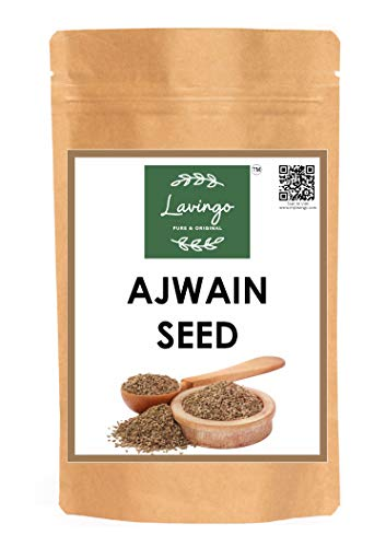 Organically Grown Ajwain Seeds/Carom Seeds (Trachyspermum Ammi)   1 lb (455 Gm) Authentic Indian Spice Blend  Eco-Friendly Packaging- By Lavingo