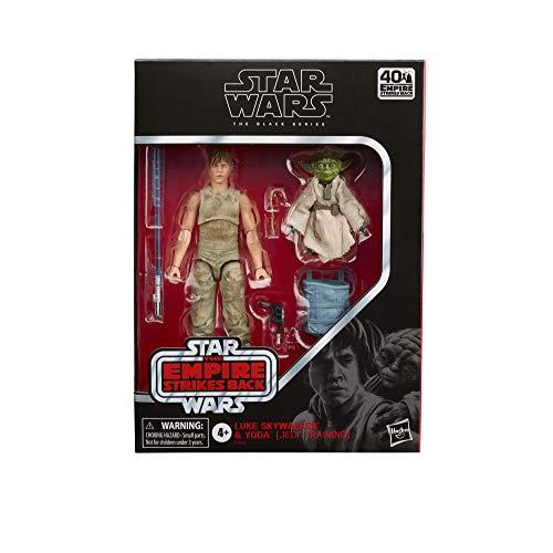 Hasbro Star Wars The Black Series Luke Skywalker und Yoda 15 cm große Star Wars: Das Imperium schlägt zurück 40-jähriges Jubiläum Figuren