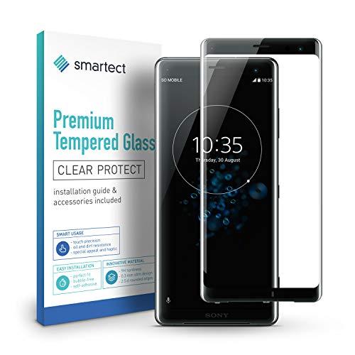 smartect Cristal Templado para Móvil Sony Xperia XZ3 [3D Curvado] - Protector de Pantalla 9H - Diseño Ultrafino - Instalación sin Burbujas - Anti-Huella