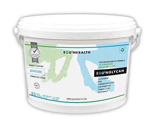 Equinhealth EQUINGLYCAN PODWER Suplemento Premium para Caballo y Poni Listo para Usar - Cuidado de Las articulaciones - Movilidad - Condroprotector – No doping (1,5 Kg)