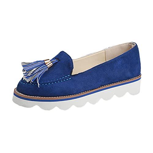 Zapatos casuales para mujer, cabeza redonda, boca baja, borla, colgante, zapatos individualescalzado deportivo zapatilla correr running sneakers