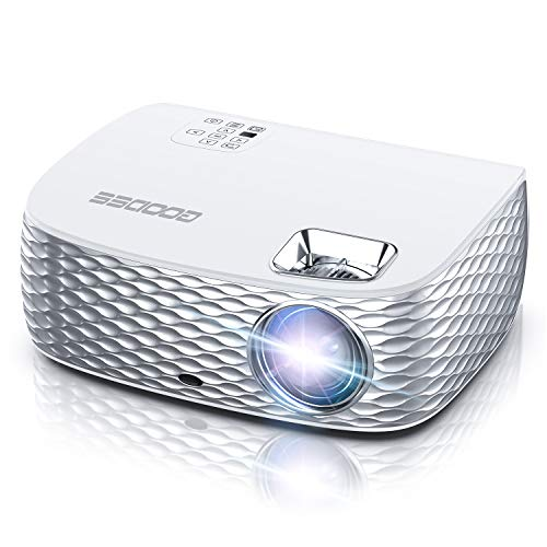 Projector, GooDee Native 1080P HD Video Projector, Touch Keys Home Movie Projector with 50,000 Hrs Lamp Life, Compatible with Fire TV Stick, PS4, HDMI, VGA, AV and USB