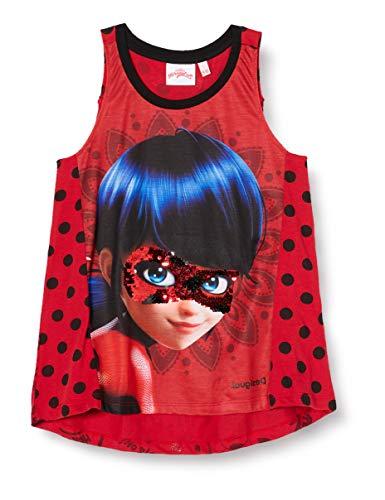 Desigual TS_Dots Camiseta, Rojo (Carmin 3000), 8 años para Niñas