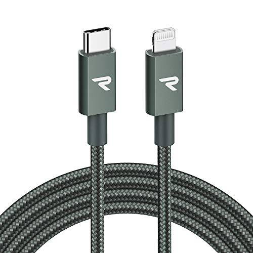 RAMPOW Cable USB C a Lightning 2M, [Apple MFi Certificado] Tipo C...