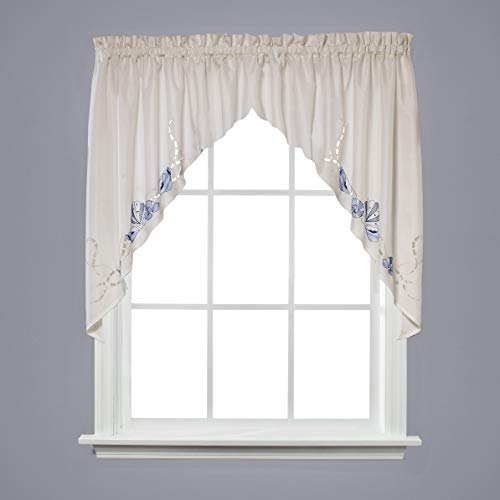 SKL HOME by Saturday Knight Ltd. J7125800T36S09 Seabreeze Swag Valance Pair, Ocean, 57 inches x 36 inches