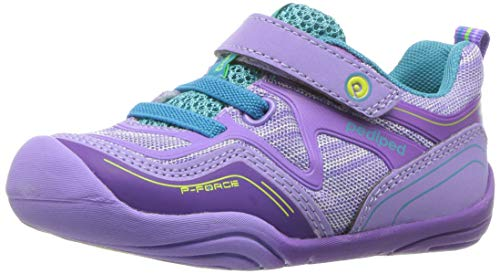 pediped Baby-Girl's Force First Walker Shoe, Lavender, 20 Child EU Toddler (5 US)