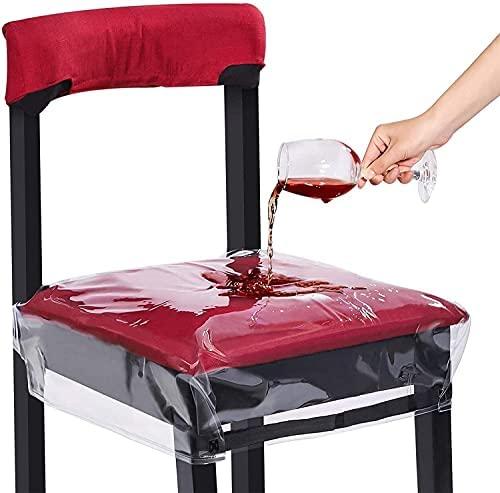 2 Pack Plastic Chair Covers, Clear Dining Chair...