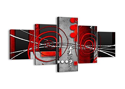 Quadro su Tela - Cinque 5 Tele - Larghezza: 125cm, Altezza: 70cm - Numero dell'immagine 0599 - Pronto da Appendere - Completamente incorniciato - Elementi Multipli - EA125x70-0599