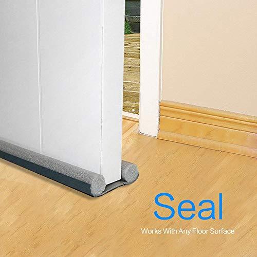 3 Stück Unter Tür Zugluftstopper-Schallschutz Türboden Wetterschutzleiste, Türfegerleiste Unter Tür Zugluftblocker Für Außen- / Innentüren, 37 Zoll