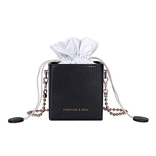 levliong Drawstring Bucket Women Purses Bags Small Ladies Handbags Box Shape Crossbody Bags For Women
