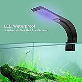 Soporte de luz LED para acuario, soporte de luz LED para acuario, iluminación de tanque de peces, luces LED multicolores para acuarios de agua dulce