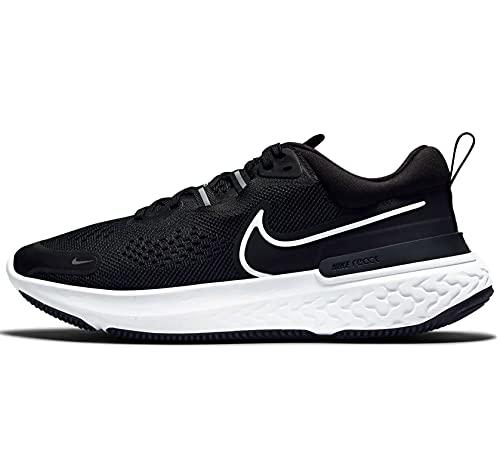 Nike Wmns React Miler 2, Running Donna, Nero e Bianco Fumo, 42.5 EU