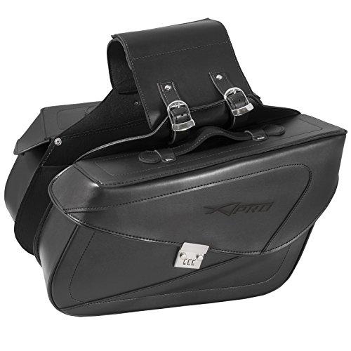 A-Pro Borse Bisacce Rigide Borse Laterali Custom Moto Universali Nero