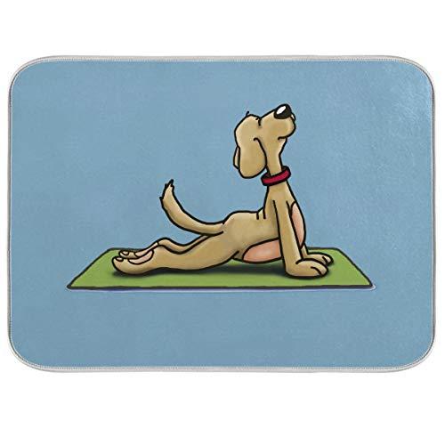 Esterilla de secado para platos de yoga para cocina, 45,7 x 60,9 cm, se puede plegar, fácil de limpiar