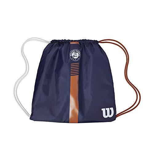 Wilson Roland Garros Team Bolsa con cierre de cordón, Unisex Adulto, Azul/Marrón, 1 raqueta