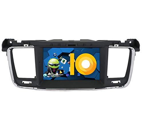 ZWNAV 7 Pulgadas Android 9.0 estéreo para Coche para Peugeot 508 2011-2017, navegación GPS, Reproductor de DVD, Pantalla táctil IPS, WiFi, Bluetooth, Receptor Am/FM, Control de Volante