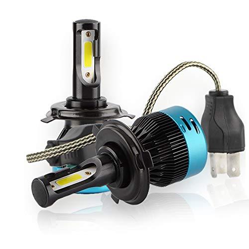 kit de deux Ampoules Bi-led H4 Ventilé Haute Huissance Blanc Pur 72w 7600lm alternative au kit halogène ou xénon croisement/plein phare