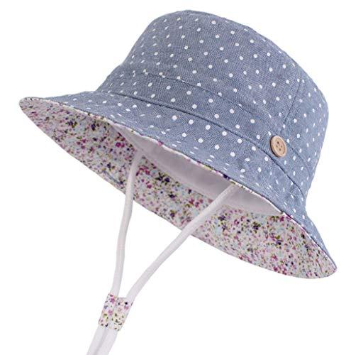 DELEY baby emmer hoed met kinriem zomer zonwering strand hoed golf punt cowboy Fischer hoed