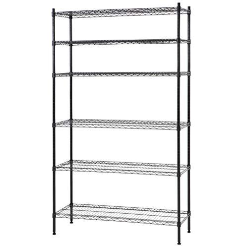ALUNVA Shoe Rack,Wooden Shoe Storage Shelf,Shoe Organizer,Standing Storage Shelves,Heavy Duty Shelving Unit,Organizer-B 60x17x100cm(24x7x39inch)