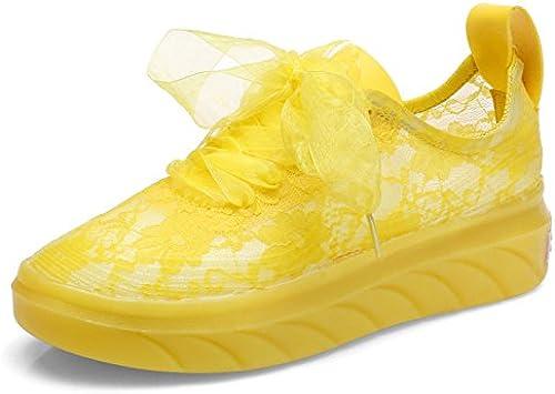 HBDLH Femmes Et Les Chaussures Net Summer Net Chaussures De De De Sport épais Bas Chaussures Joker Lace Loisirs. c3e