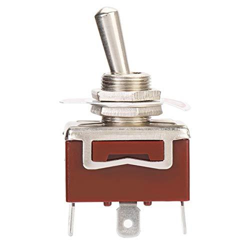 LANTRO JS - Interruptor de palanca SPDT de 5 piezas de 12 mm, interruptor de palanca de 3 pines y 2 posiciones de 15 A 250 V ON-ON