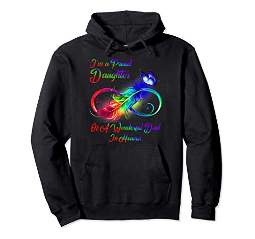 I'm A Proud Daughter Of A Wonderful Dad In Heaven Gifts Pullover Hoodie