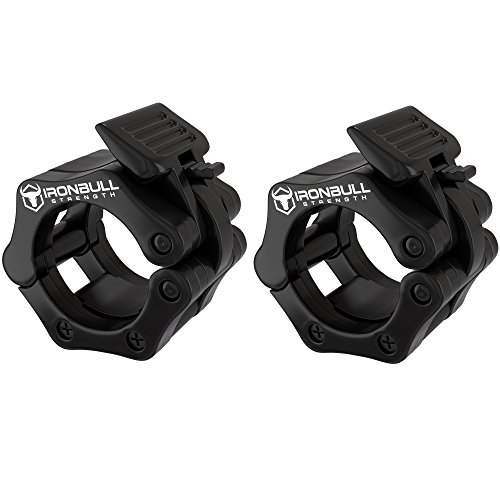 Barbell Collars (Pair) – Locking 2' Olympic Size Weight Clamps - Quick Release Collar Clips – Bar Clamps Great for Weight Lifting, Olympic Lifts and Strength Training (Black)