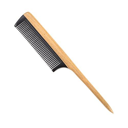LWBTOSEE Peine de madera de sándalo verde 100% natural, peine de madera de dientes anchos y cola de madera peine de dientes finos, peine de cuerno desenredante antiestático para mujeres