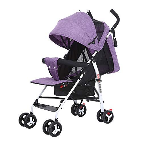 Unbekannt HLF- Kinderwagen kann sitzen liegend einfache Faltbare Kinderwanderer, 4,6 kg ultraleichte Durchführung, mit Ablagekorb, Panorama-Schiebedach, Bequeme Sicherheitsgurt
