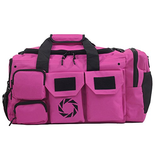 WODSuperStore Rigor Gear Large Crossfit Workout Duffle Bag with Shoe Compartment, Wet Dry Pouch, Water Bottle Holder, Outside Mesh Pockets Sports Luggage for Gym, Carry On or Travel (Pink, Large)