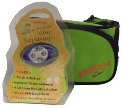 Kuenen Pfiffikus Jubiläumsdiplay 11175 Set-1 Entdeckerspielzeug *bestehend aus grüner Gürteltasche und Kopflampe*