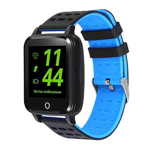 Bluetooth Smart Watch, IOQSOF Touch Screen Smartwatch, Heart Rate, Blood Pressure Monitor, Compatible with Android&iOS Phones for Kids Men Women