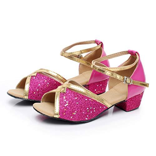 Mädchen Tanzschuhe, Latein Tanzschuhe Ballsaal, Latein Tanz Schuhe, Kinder Party Prinzessin Sandalen, Kleinkind-Schuhe