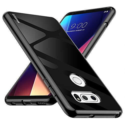CASEVASN LG V30 / LG V30S / LG V30 Plus/LG V30S ThinQ/LG V35 / LG V35 ThinQ Case, [Slim Thin] Anti-Scratches Flexible TPU Gel Slim Fit Soft Skin Silicone Protective Case Cover (Black)