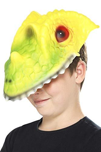 Smiffys Kinder Unisex Krokodil Maske, One Size, Grün und Gelb, 46971