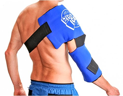 Pro Ice Adult Shoulder and Elbow Real Ice Pack Wrap Wearable...