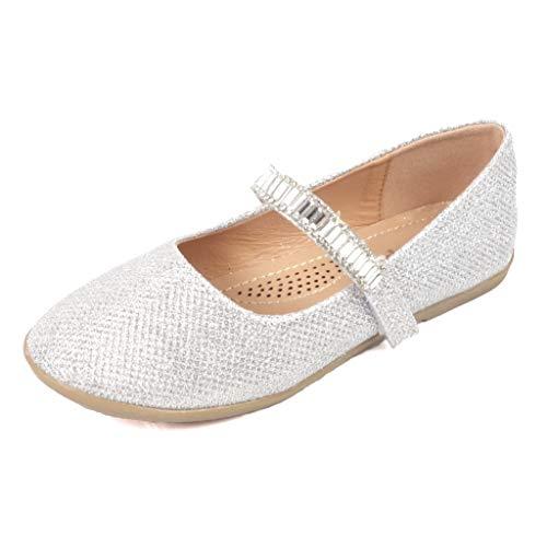 Nova Utopia Toddler Little Girls Ballet Flat Shoes,NF Utopia Girl NFGF065 SilverGlitter 8